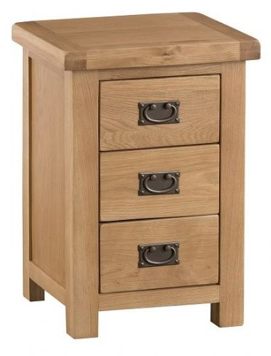 Chelmsford Oak 3 Drawer Large Bedside